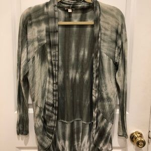 Silence and noise tie dye light cardigan.